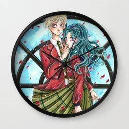 Haruka and Michiru - Sailor Moon tribute Wall Clock