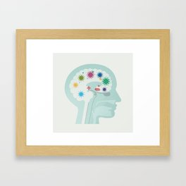 Brain at Work Framed Art Print