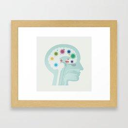 Brain at Work Framed Art Print