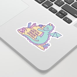 I love you more than dragons love gold Sticker