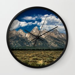 The Grand Tetons - Summer Mountains Wall Clock