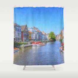 The Canals Of Ghent, Belgium Shower Curtain
