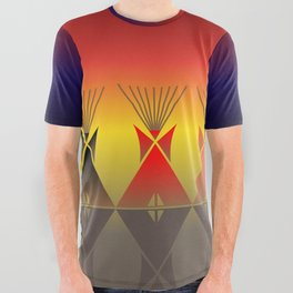 Night Tipi All Over Graphic Tee