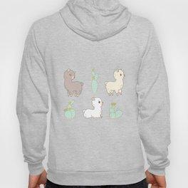 cactus and alpaca pattern Hoody