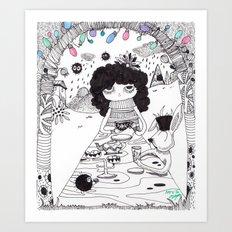 Tea time.....join us!! Art Print