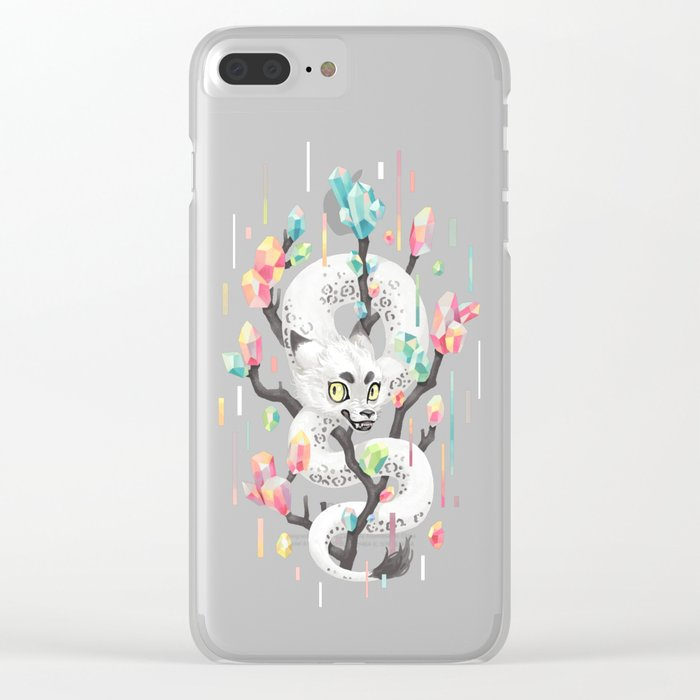 Dragon and His Treasure Clear iPhone Case