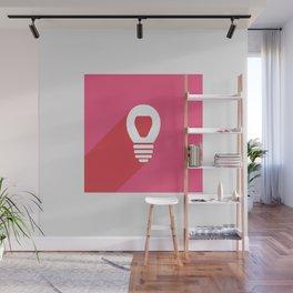 Lightbulb icon Wall Mural