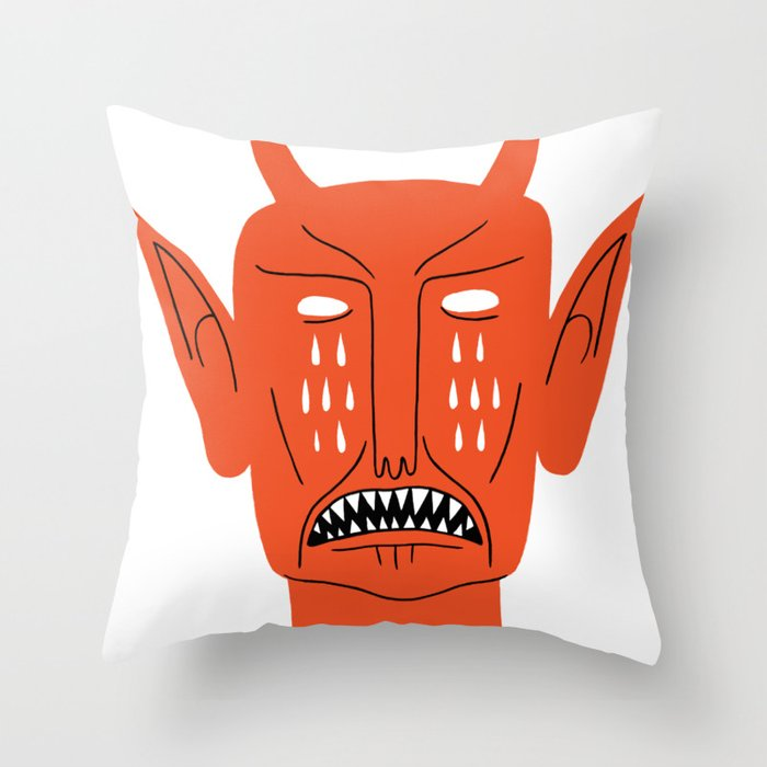 Devil's Head Throw Pillow
