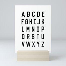 Black and White Typography Alphabet Design Poster with Monochrome Minimalist Letters Home Decor Mini Art Print