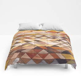 Triangle Pattern Fall Colors Comforters