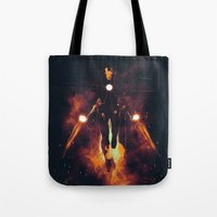 shining Tote Bags featuring Red shining by Steven Toang