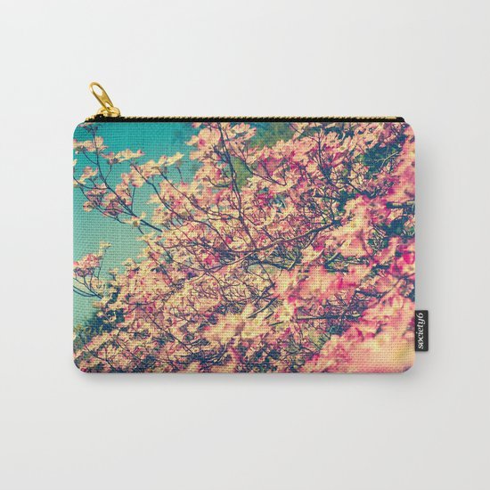 Her Favorite Color was Pink Flowers Carry-All Pouch