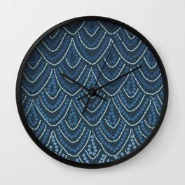 String of pearls blue Wall Clock
