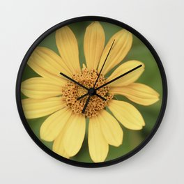 Beautiful Yellow Vintage Flower Wall Clock