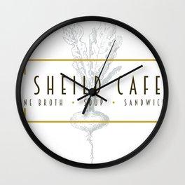 Sheild Cafe Wall Clock