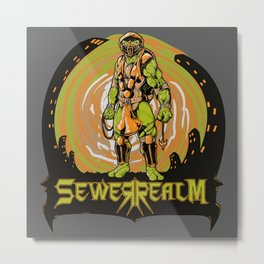 Sewer Realm (Org) Metal Print