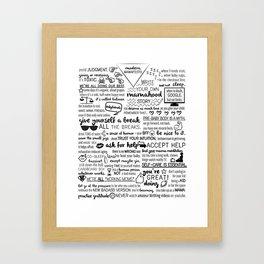 modern mamafesto  Framed Art Print