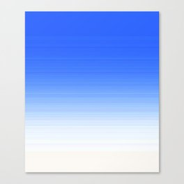Sky Blue White Ombre Canvas Print