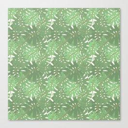 Vintage Florida Palm Fronds Pattern Canvas Print