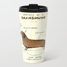 Anatomy of a Dachshund Metal Travel Mug
