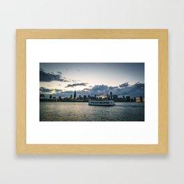 Boat Tour of Chicago Framed Art Print