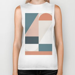Cirque 01 Abstract Geometric Biker Tank