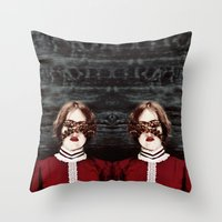 third eye Throw Pillows featuring Third Eye by elle moss