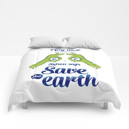 Simon says... Save the earth Comforters