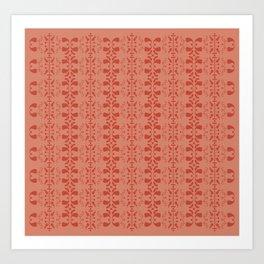 red retro pattern Art Print