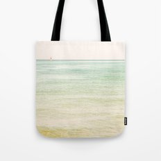 Nautical Red Sailboat Tote Bag