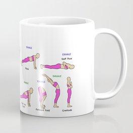 Surya Namaskar, Sun Salutation, Twelve Yoga Asanas In Sequence Coffee Mug