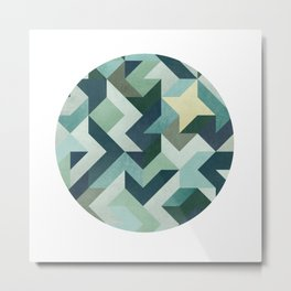 Circle Geometry Metal Print