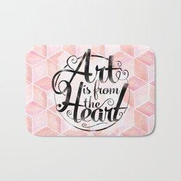 Art Is From The Heart. Bath Mat