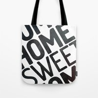 home sweet home Tote Bags featuring HOME by Eolia