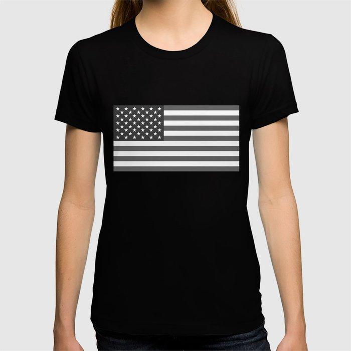 National flag of the USA, B&W version T-shirt