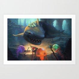 Jellyfish Party Art Print