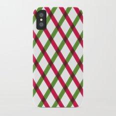 Holiday Ribbon Pattern iPhone X Slim Case