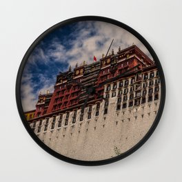 The Potala palace in Tibet, Buddhist temple (2016-6T32) Wall Clock