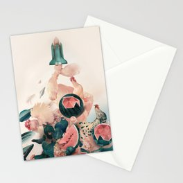 Watermelon&Black cock Stationery Cards