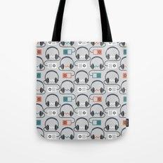 Headphones Pattern Tote Bag