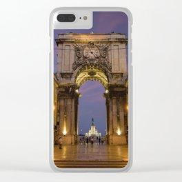 The Arco de Triunfo, Lisbon, Portugal Clear iPhone Case