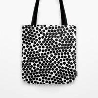 dots Tote Bags featuring Dots by Patterns and Textures