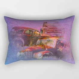 cars lost in the mist of time Rectangular Pillow