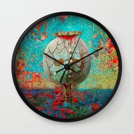 opium field Wall Clock