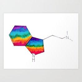 DMT Molecule Art Print