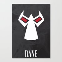 bane Canvas Prints featuring Bane by Gari Smith