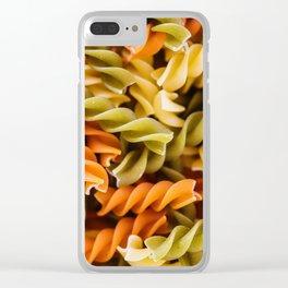 Pasta Noodles Pattern (Color) Clear iPhone Case