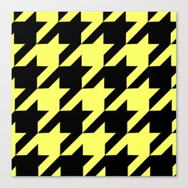 Baby Yellow Houndstooth Canvas Print