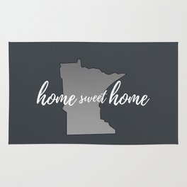 Minnesota Home Sweet Home Grey Rug