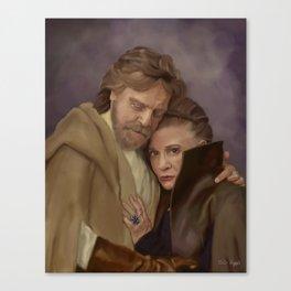 Luke and Leia Canvas Print